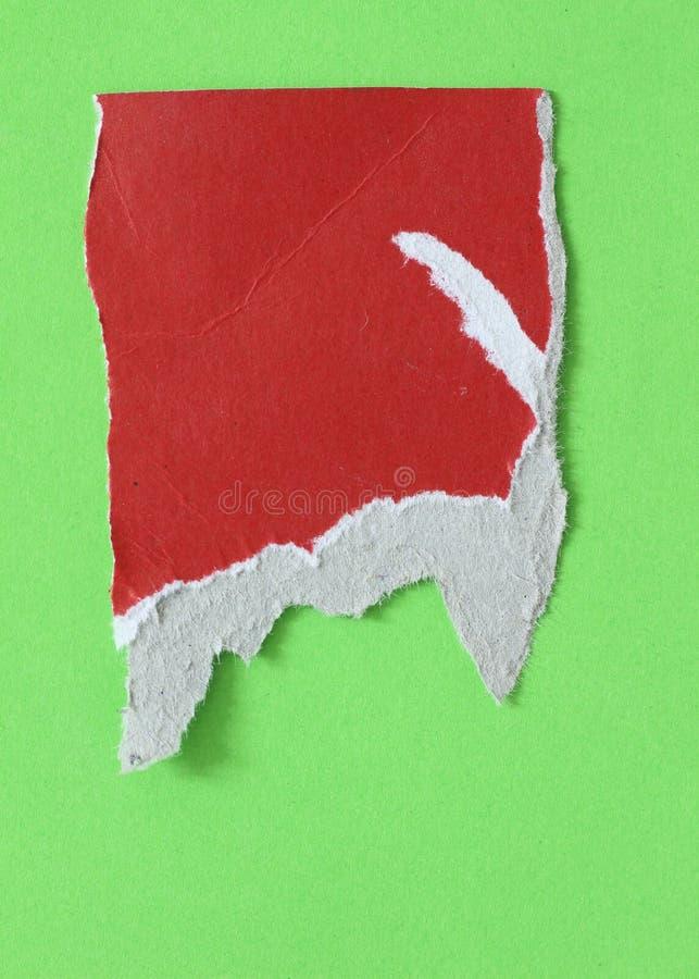 被撕毁的裂口纸 免版税图库摄影