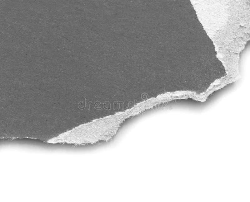 被撕毁的裂口纸 免版税库存照片