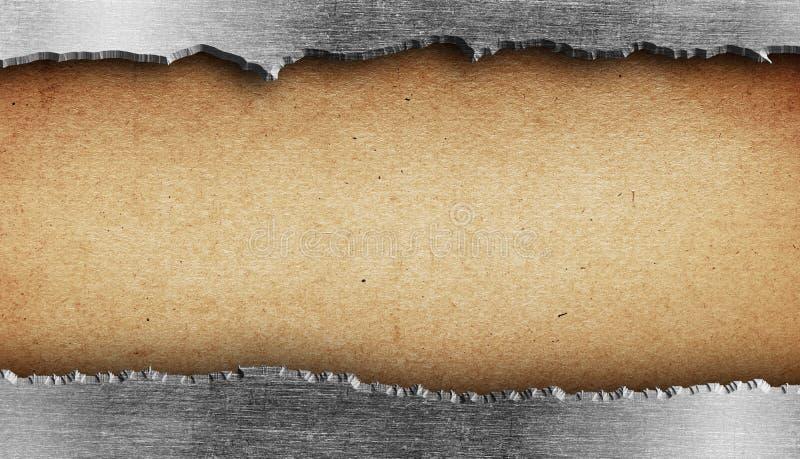 被撕毁的金属纹理 免版税库存照片