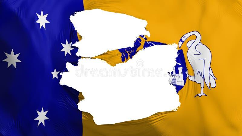 被撕碎的堪培拉旗子 皇族释放例证