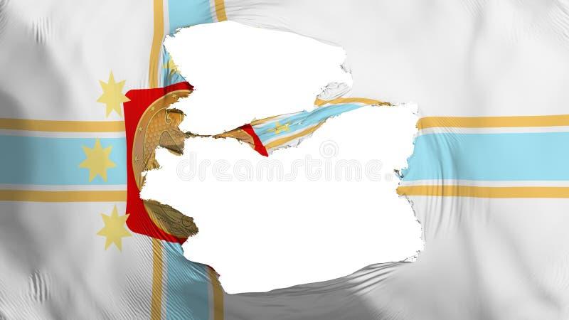 被撕碎的第比利斯市旗子 库存例证