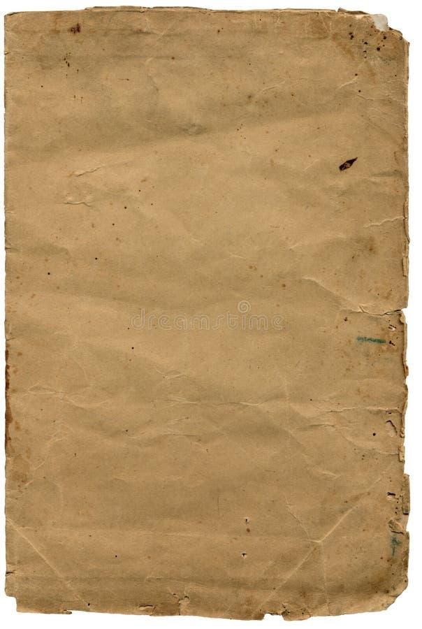被撕碎的边缘老纸张构造了 免版税库存照片