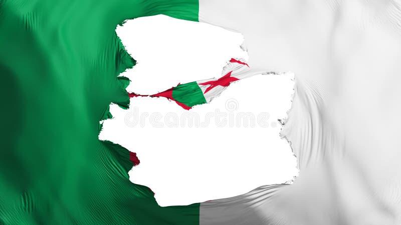 被撕碎的阿尔及利亚旗子 向量例证