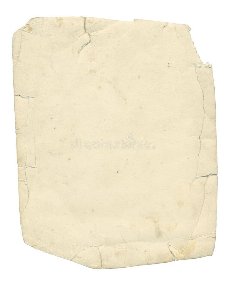 被撕碎被构造的剪报边缘老纸张通路 免版税库存图片