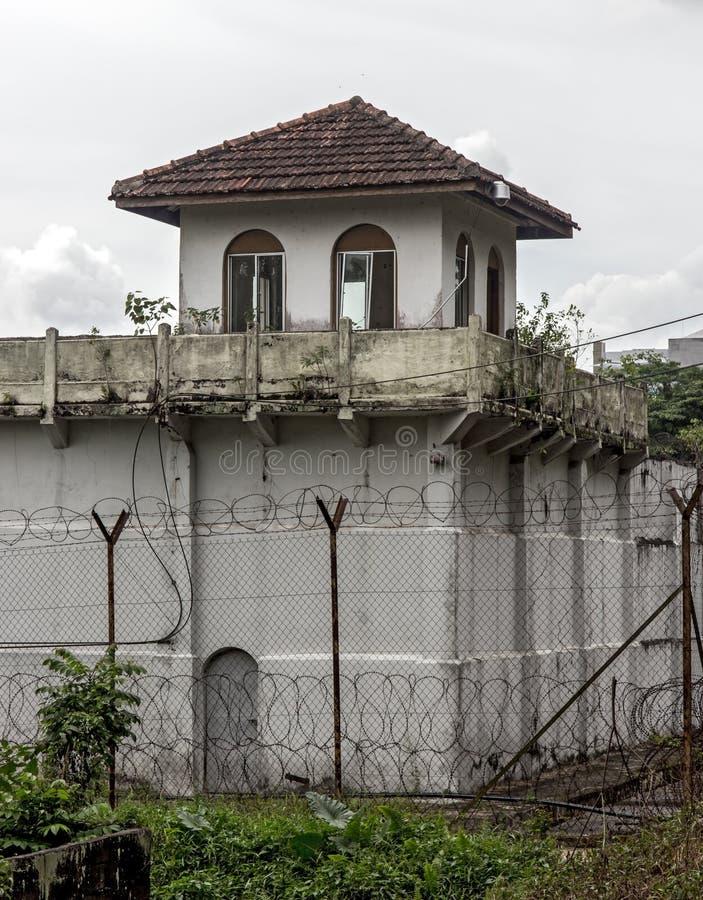 被操刀的监狱城楼  免版税图库摄影