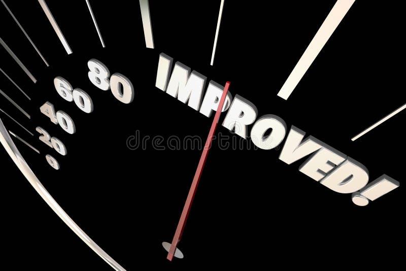 被改进的词更好车速表进展 皇族释放例证