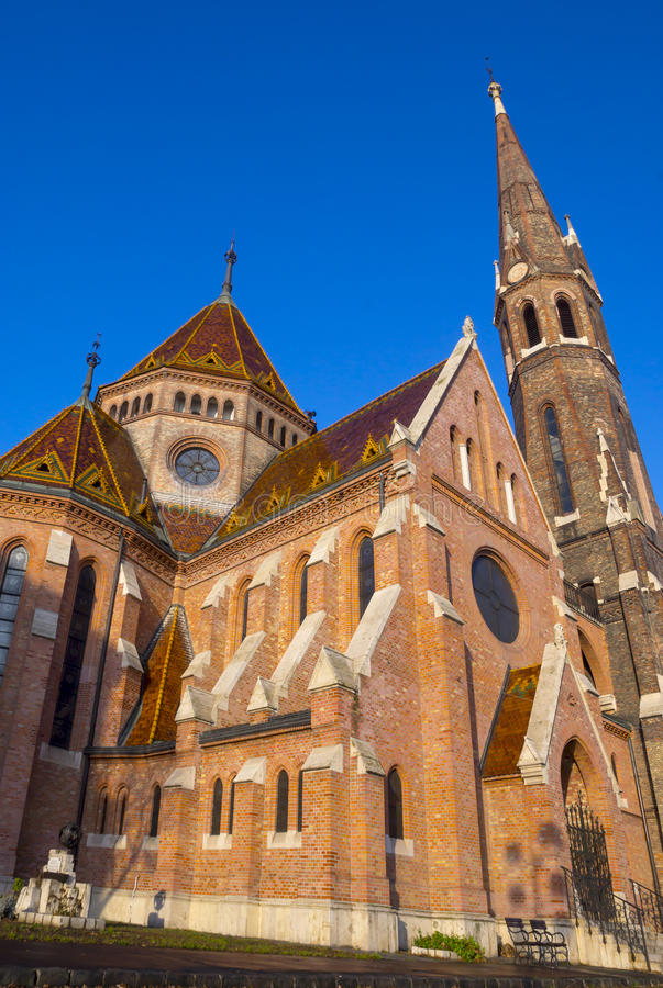 被改革的教会在布达佩斯,匈牙利 免版税库存图片