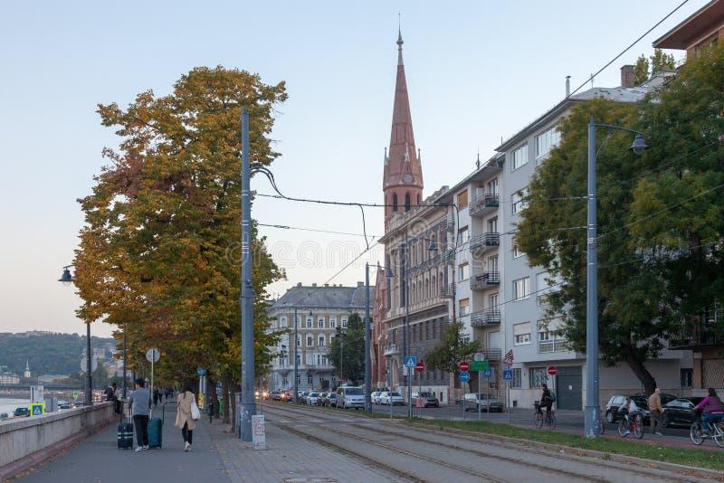 被改革的教会在布达佩斯 图库摄影