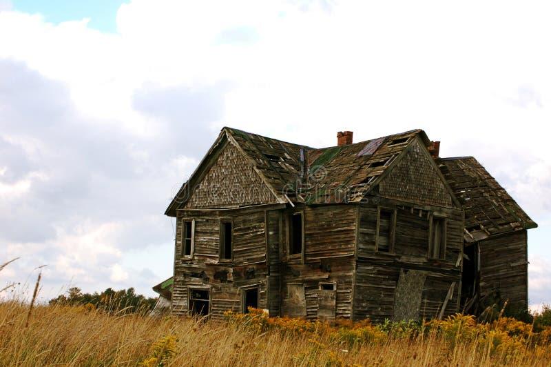 被放弃的之家 免版税库存图片