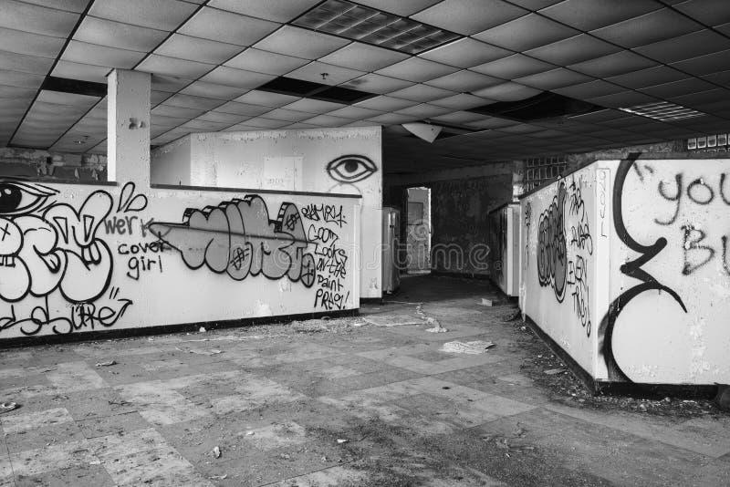 被放弃的休闲大厦 库存图片