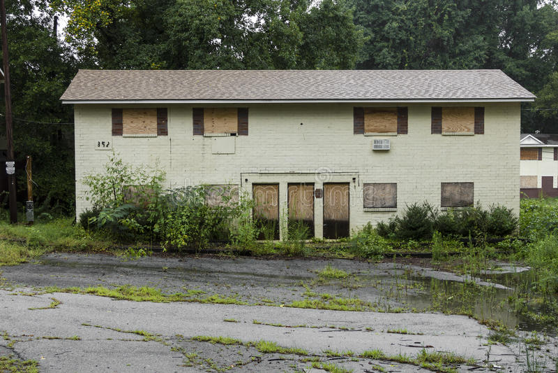 被放弃的住房建造计划 库存照片