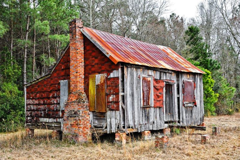被放弃的农舍 免版税库存照片