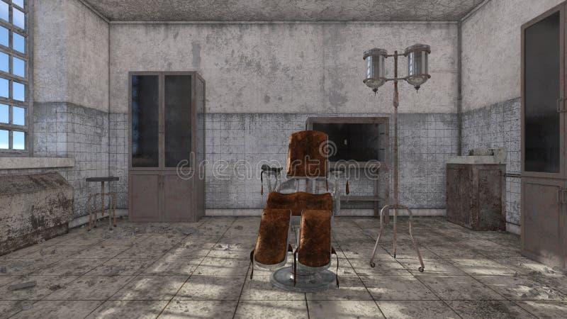被放弃的医院3D CG翻译  皇族释放例证