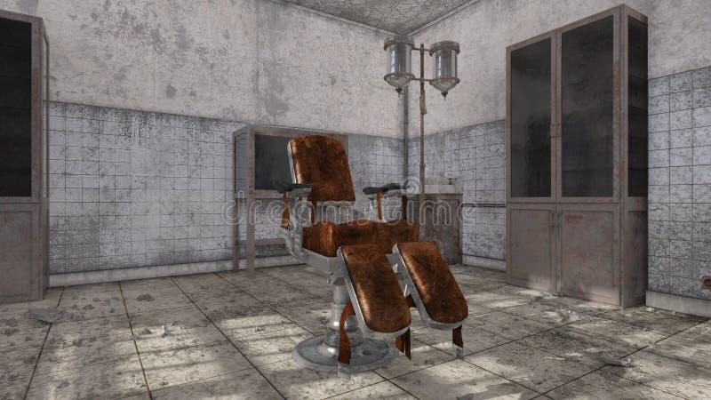 被放弃的医院3D CG翻译  向量例证