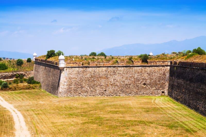 被放弃的堡垒看法  库存照片