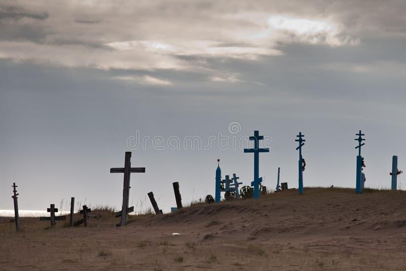被放弃的墓地 免版税库存图片