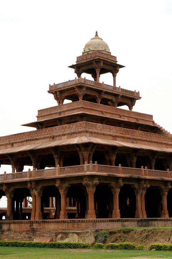 被放弃的复杂fatehpur印度sikri寺庙 免版税库存图片