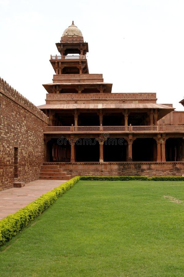 被放弃的复杂fatehpur印度sikri寺庙 库存照片