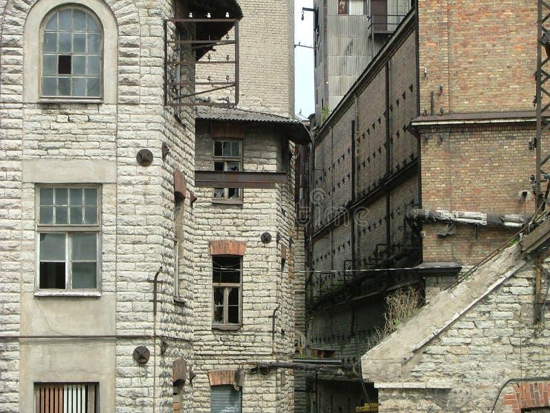 被放弃的大厦区 库存照片