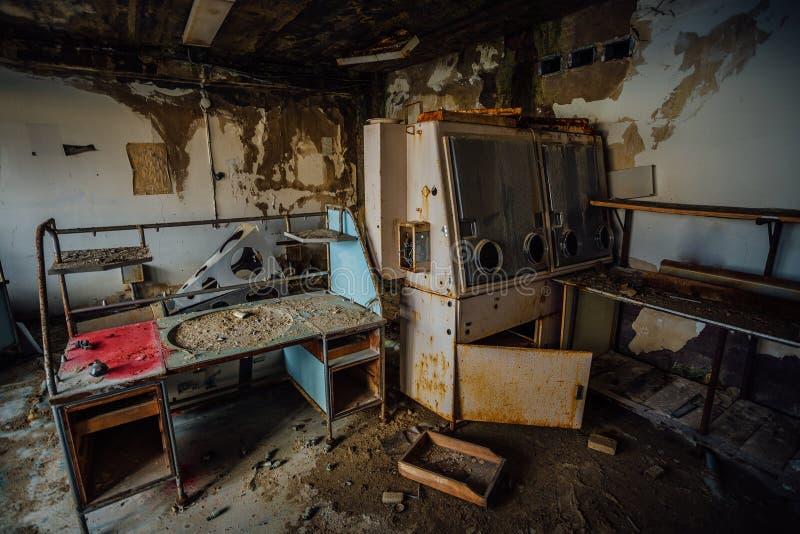 被放弃的实验室 免版税图库摄影