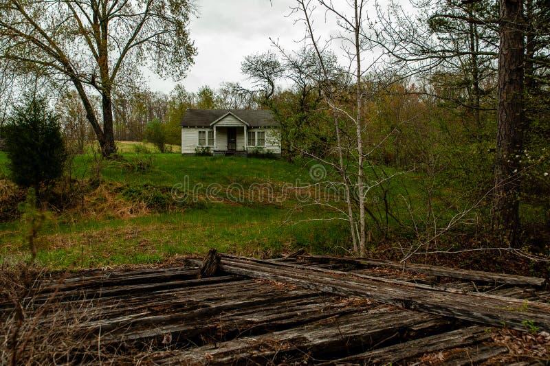 被放弃的家的阿巴拉契亚山脉-肯塔基 库存图片