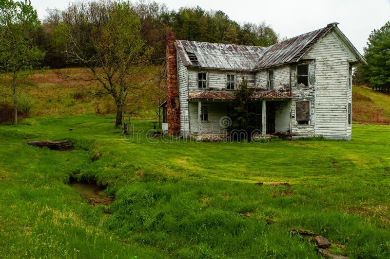 被放弃的家的阿巴拉契亚山脉-肯塔基 库存照片