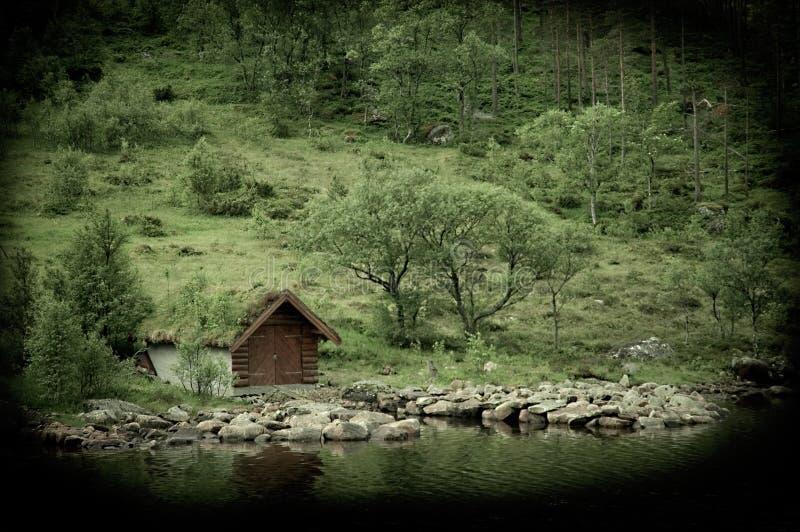 被放弃的小屋 库存照片
