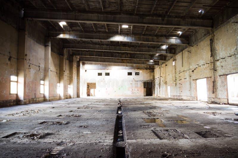 被放弃的工厂波兰 免版税库存照片