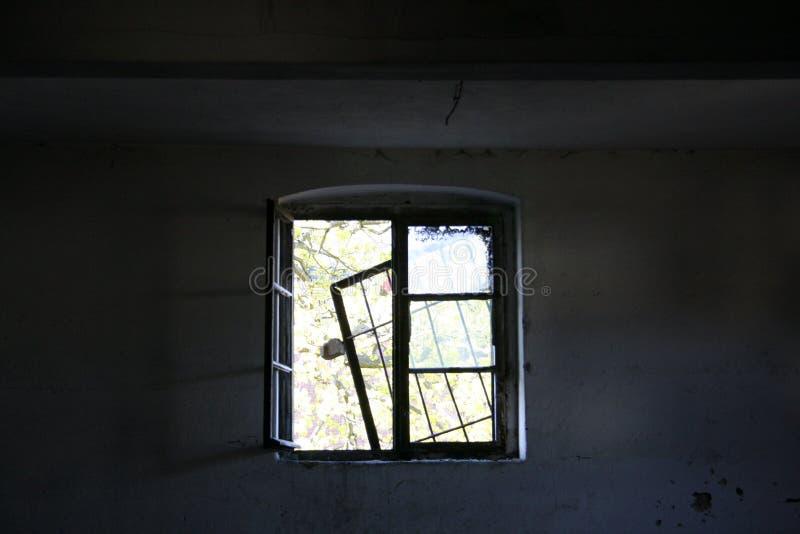 被放弃的工厂-窗口 图库摄影