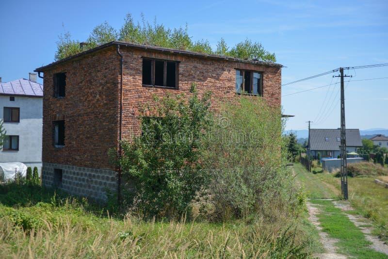 被放弃的房子在中欧 库存图片