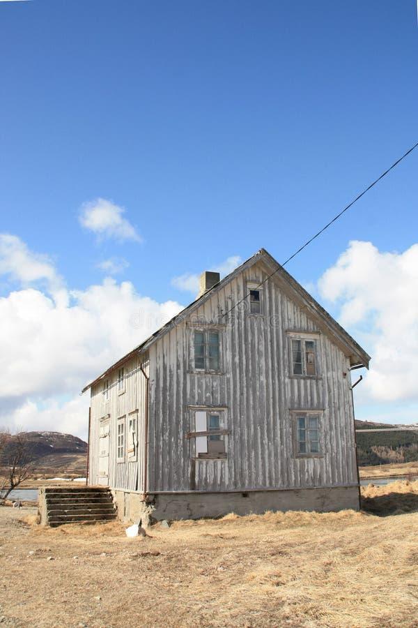 被放弃的房子ii lofoten s 图库摄影