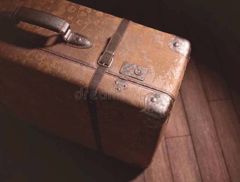 被放弃的手提箱 库存照片