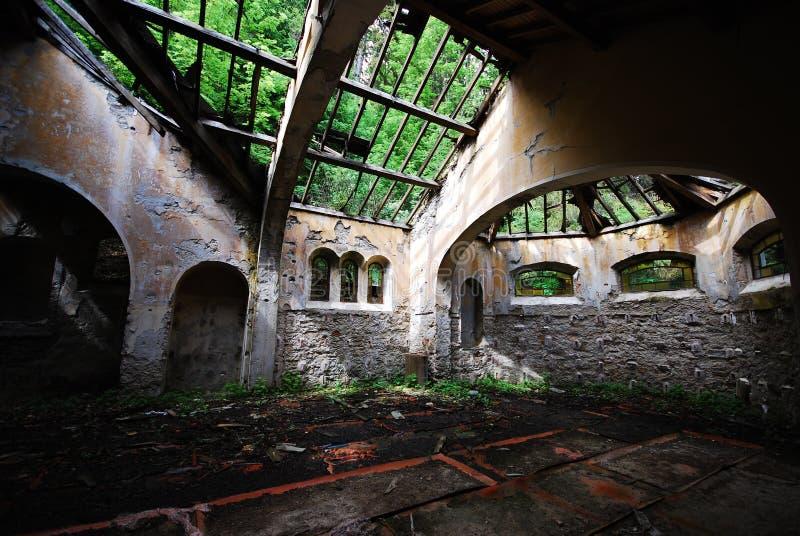 被放弃的教会 免版税图库摄影
