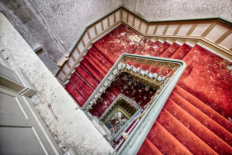 被放弃的旅馆在哈茨山 免版税库存照片