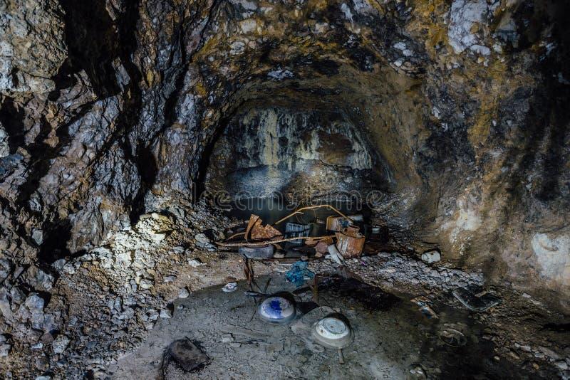 被放弃的最小值 死角 画廊的被放弃的石发展 免版税图库摄影