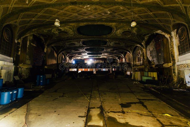 被放弃的杂耍剧场-克利夫兰,俄亥俄 免版税库存图片