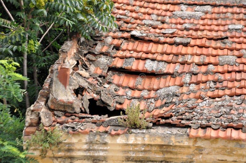 被放弃的村庄 免版税库存照片