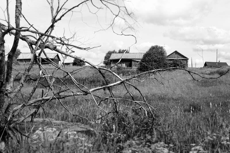 被放弃的村庄 库存图片