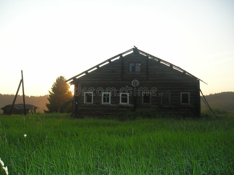 被放弃的村庄 免版税库存图片
