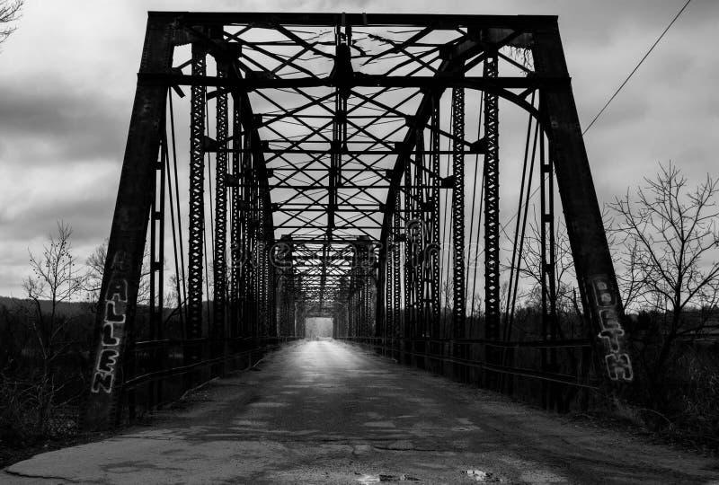 被放弃的桥梁 库存照片