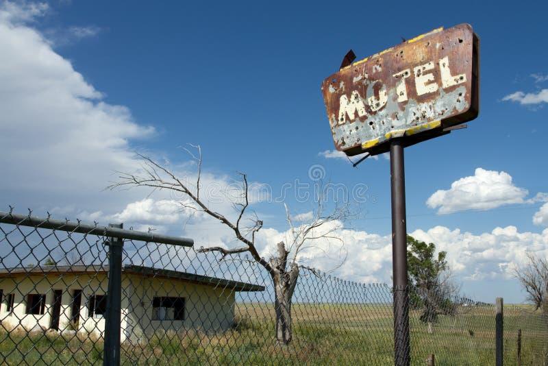被放弃的汽车旅馆 库存照片