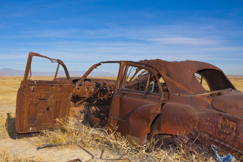 被放弃的汽车经典之作 免版税图库摄影