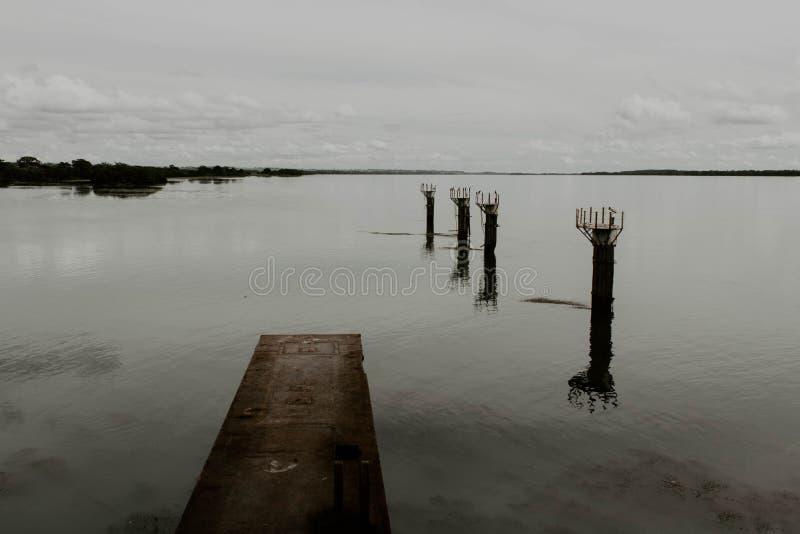 被放弃的港口 免版税库存照片