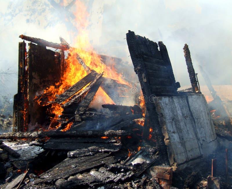 被放弃的火房子 图库摄影
