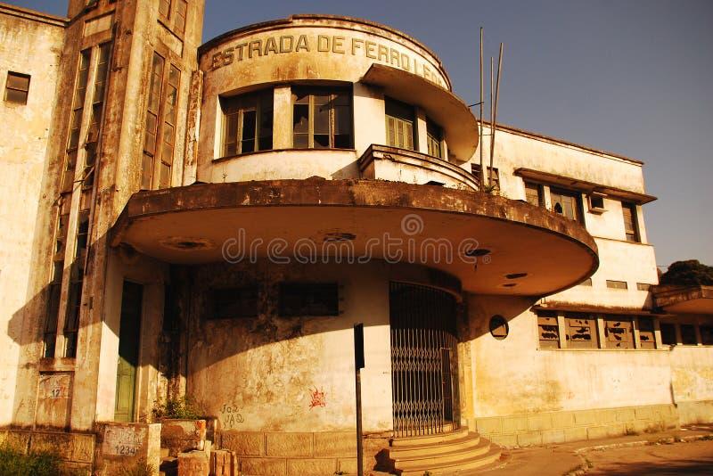 被放弃的火车站在韦利亚镇,Brazil_02 免版税图库摄影