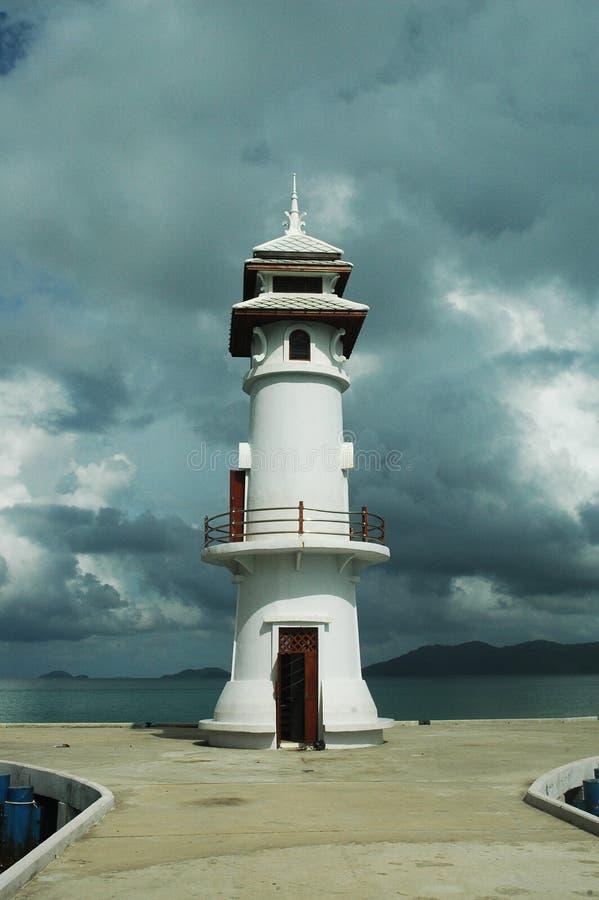 被放弃的灯塔 免版税库存照片