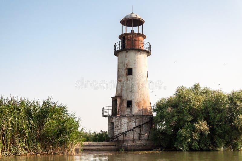 被放弃的灯塔 免版税库存图片