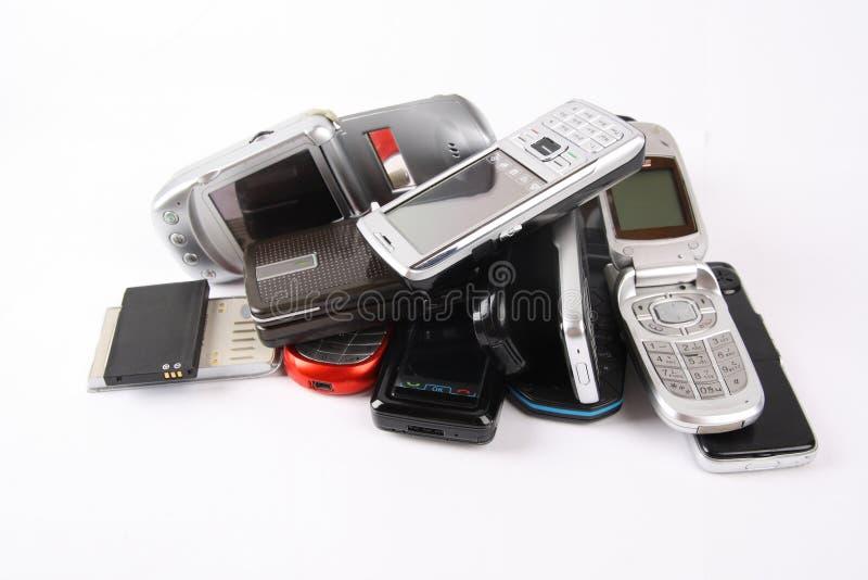 被放弃的移动电话 免版税库存图片
