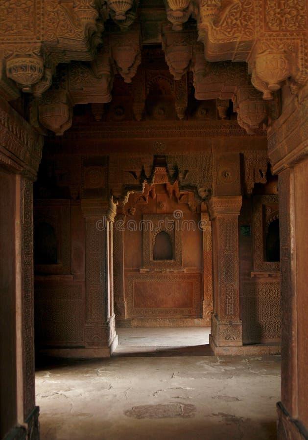 被放弃的空的印度段落寺庙 图库摄影