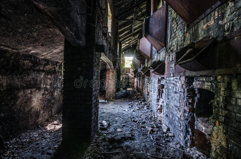 被放弃的老铸造厂 库存照片